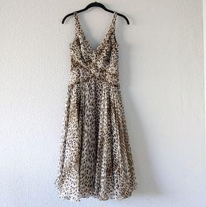 Tadashi collection cheetah silk swing midi dress 4